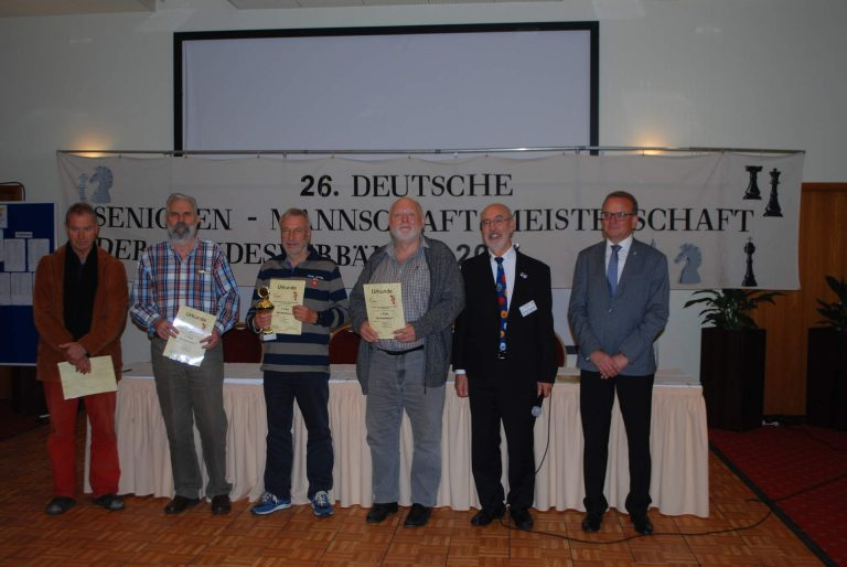 """Deutsche Senioren-Mannschaftsmeisterschaft 2017: """"Bronzemedaille"""" für Württemberg 1"""